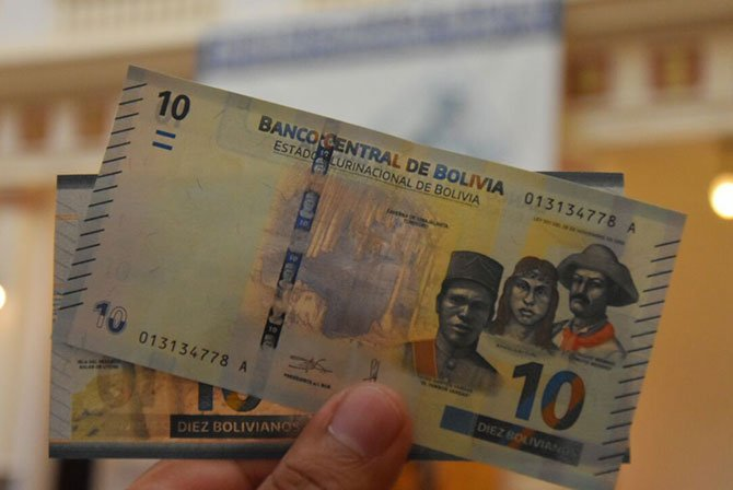 New 10 Boliviano Note 2018