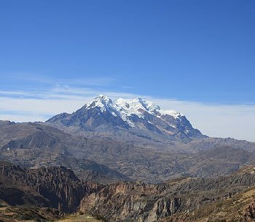 Illimani Is The Mountain That Overlooks La Paz And Considered Guardian Of City It Second Highest Peak In Bolivia Standing At