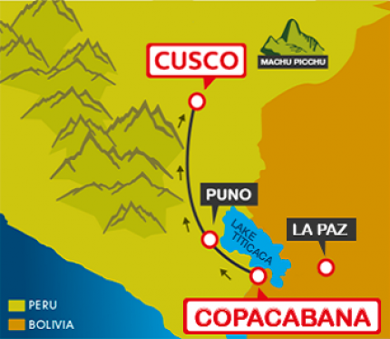 Tourist Bus Copacabana to Puno to Cusco (Bolivia Hop)
