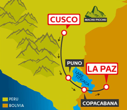 Tourist Bus Cusco to Puno to Copacabana to La Paz (Bolivia Hop)