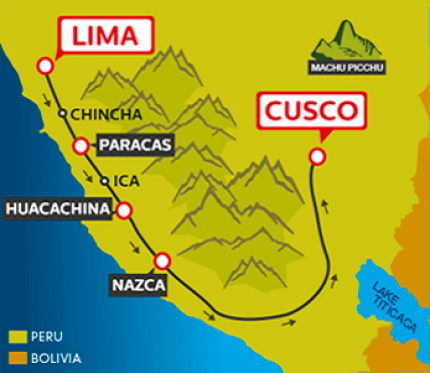 Tourist Bus Lima to Paracas to Huacachina to Cusco (Peru Hop)
