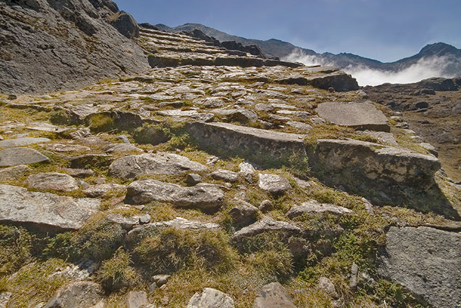Inca Paving on the Takesi Trail