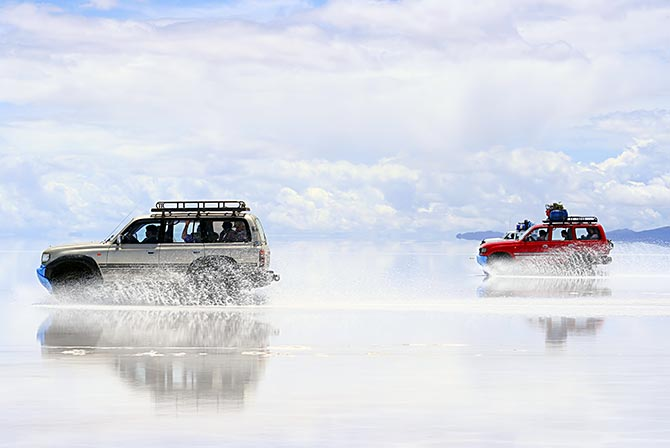 Water on the Uyuni Salt Flats